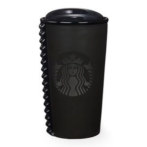 Starbucks RARE Studded Matte Black Tumbler 10oz